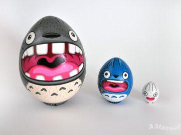 Andy Stattmiller - Totoro Nesting Eggs, 2019