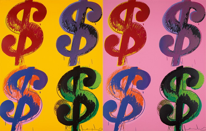 Andy Warhol-$ (4) (Four Dollar Signs)-1982