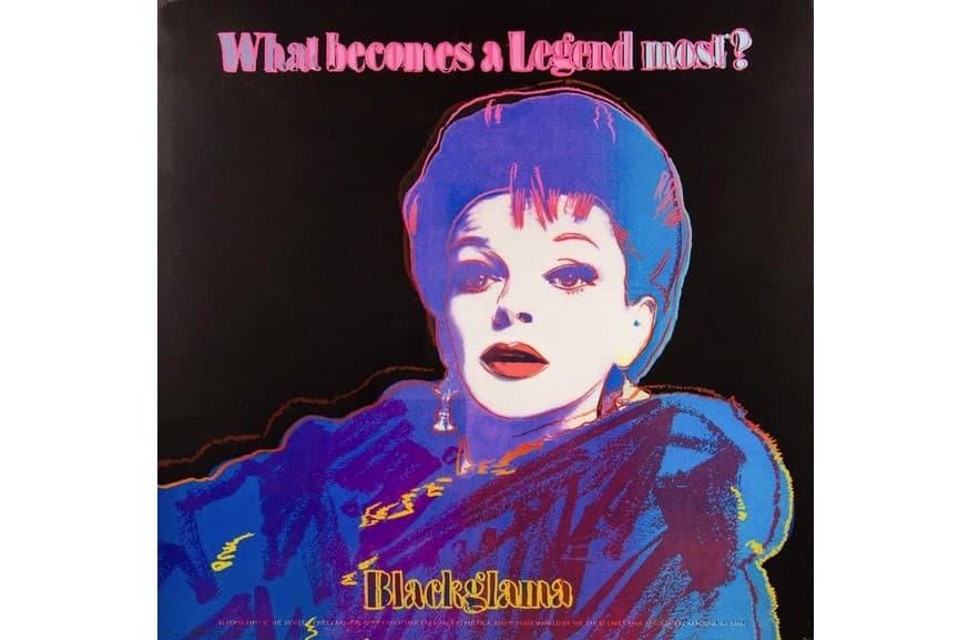 warhol's Blackglama (Judy Garland), 1985; works from warhol's portfolio