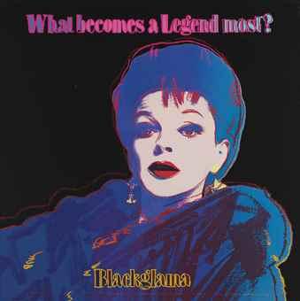 Andy Warhol-Blackglama (Judy Garland), from Myths-1985