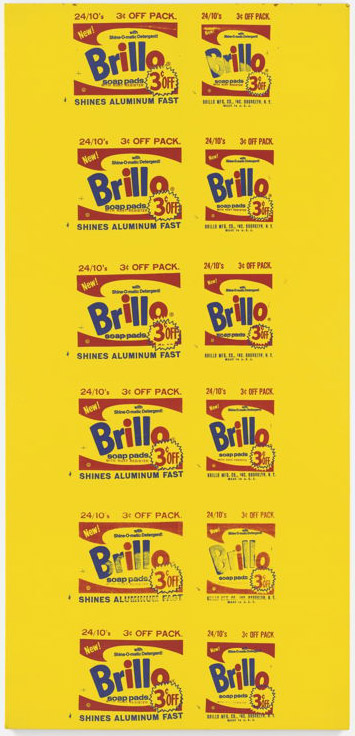 Andy Warhol-Brillo Painting (3 cent Off)-1964
