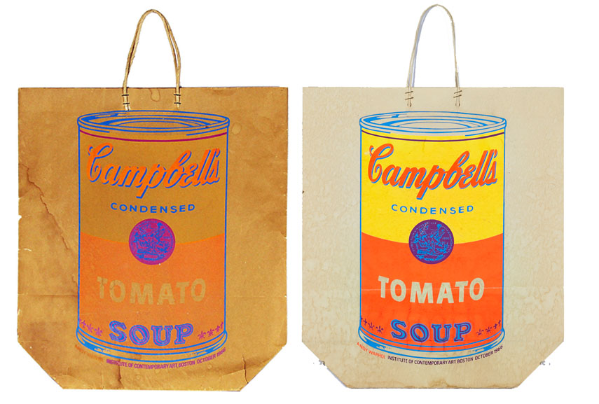 Andy Warhol's famous screen printing art of Campbell's Soup Cans