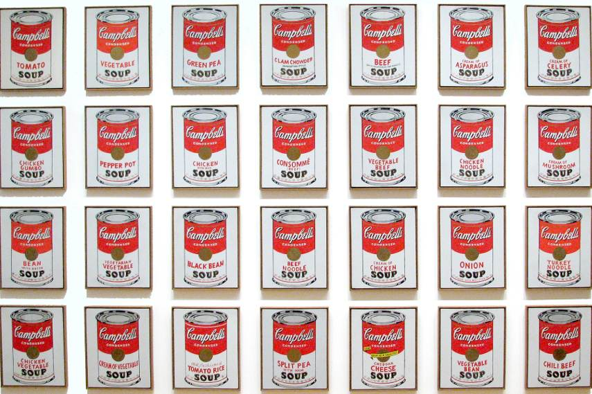 Andy Warhol used repetition in art