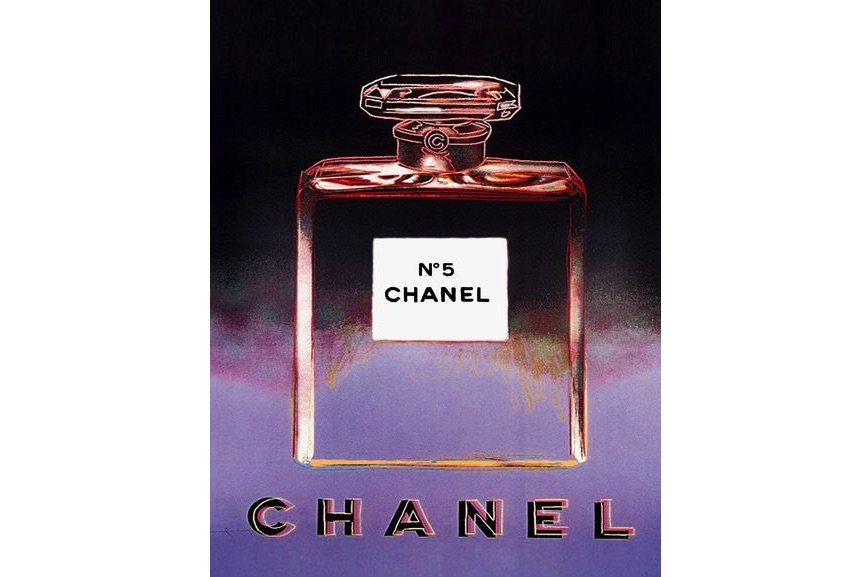 Chanel; works from warhol's ads portfolio that the artist created in 1985
