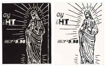 Andy Warhol-Christ $9.98 (Negative and Positive)-1986