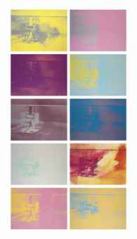 Andy Warhol-Electric Chairs (The Complete Set of Ten Screenprints in colors)-1971