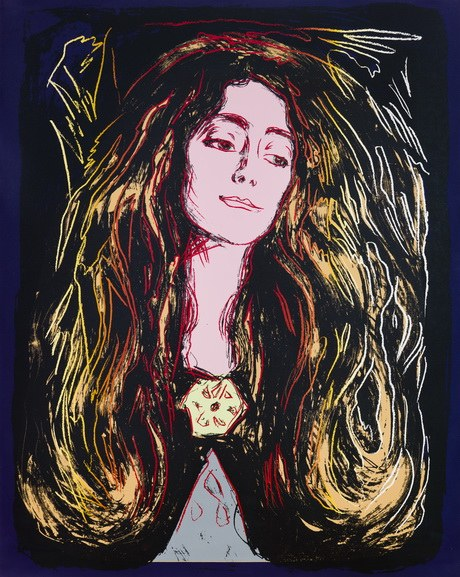 Andy Warhol - Eva Mudocci (After Munch), 1984