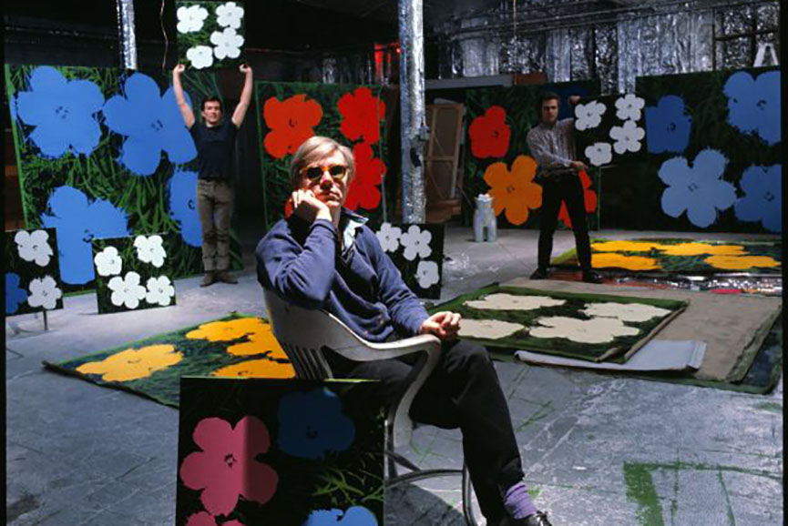 warhol's silver factory was the hub for pop and street art, as well as film enthusiasts