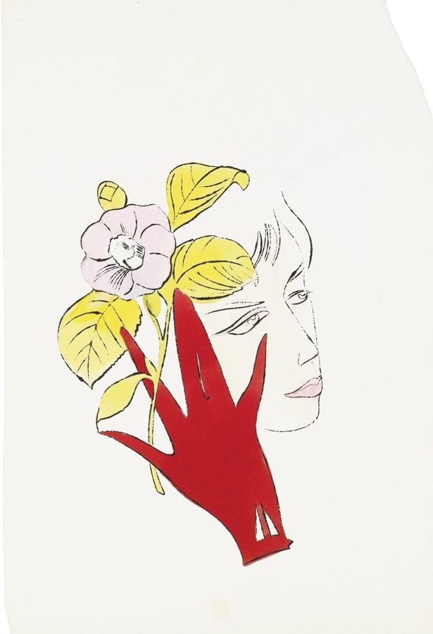 Andy Warhol-Female Head-