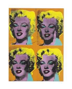 Andy Warhol-Four Marilyns-1962