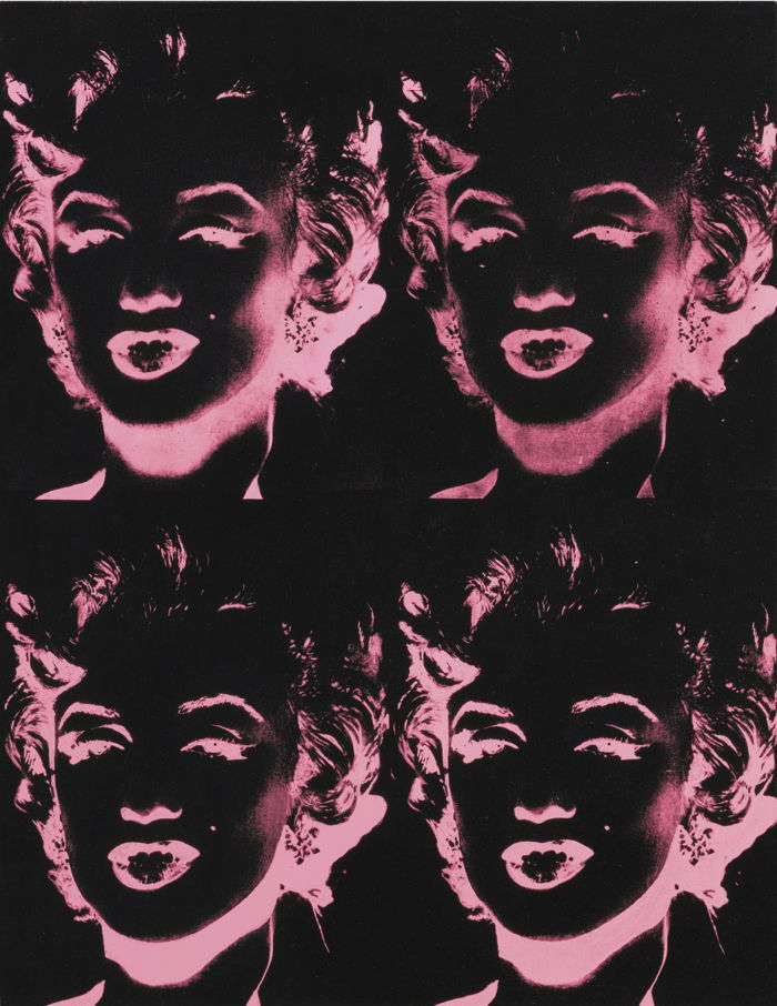 Andy Warhol-Four Pink Marilyns (Reversal Series)-1986