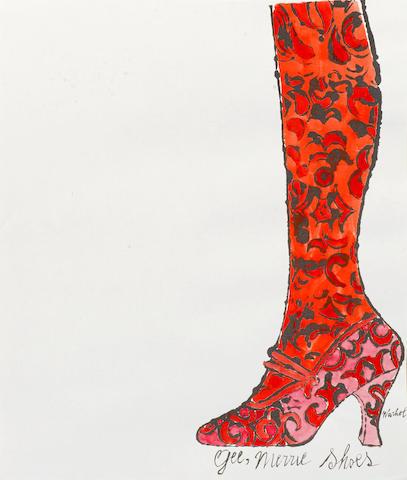 Andy Warhol-Gee, Merrie Shoes-1956