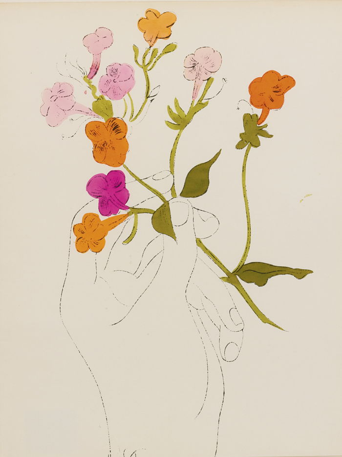 Andy Warhol-Hand And Flowers-1957