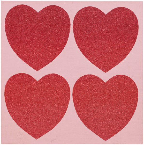 Andy Warhol-Hearts (Four)-1984