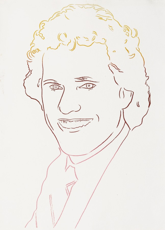 Andy Warhol-Joseph Kennedy Iii Orange Red Pink-1986