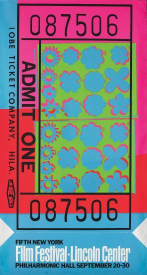 Andy Warhol-Lincoln Center Ticket-1967
