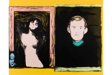 Andy Warhol - Madonna and Self-Portrait with Skeleton Arm (After Munch), 1984
