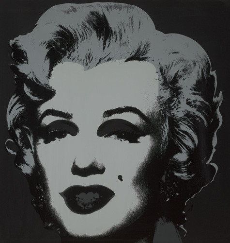 Andy Warhol-Marilyn (Black)-1967