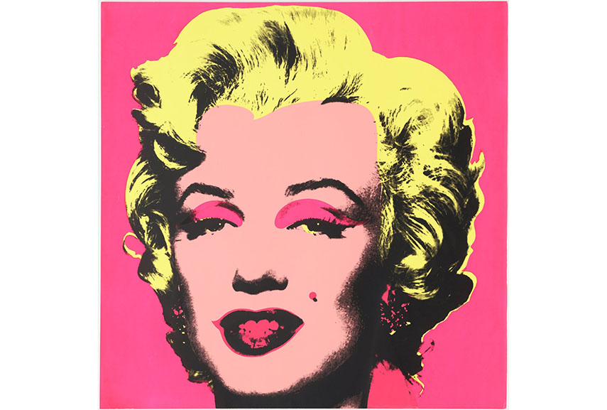 Another Warhol's famous screenprinting piece was the Marilyn Monroe image