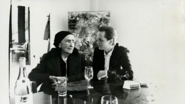 Andy Warhol - Photograph of Georgia O Keeffe with Juan Usle