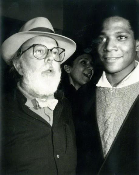 Andy Warhol - Photograph of Henry Geldzahler and Jean-Michel Basquiat