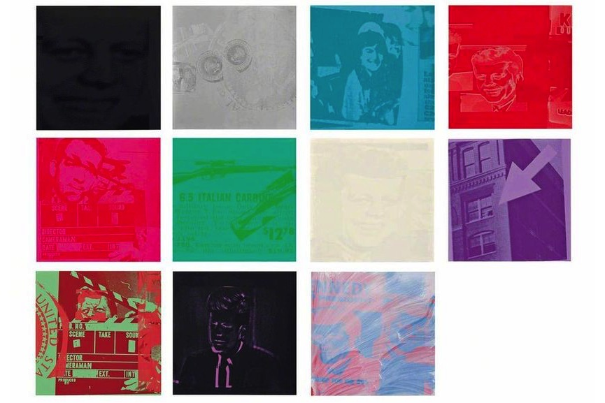 Andy Warhol - Portfolio of eleven screenprints with screenprint cover, 1963