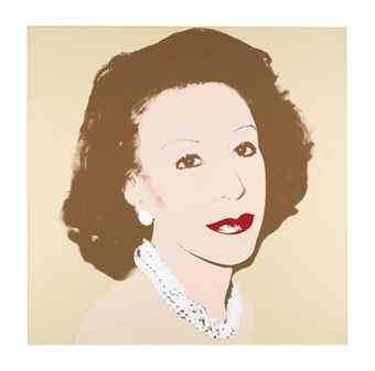 Andy Warhol-Portrait of Ina Ginsburg-1982