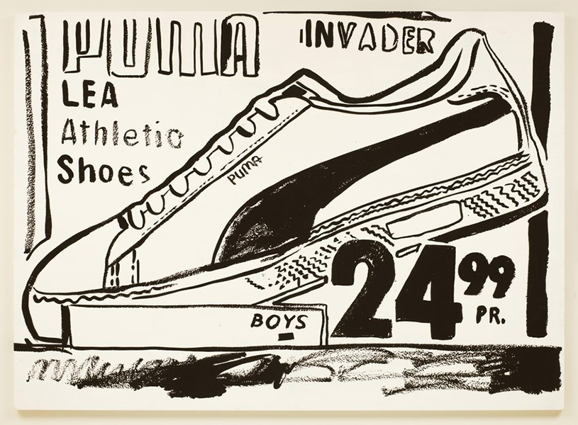 Andy Warhol - Puma Invader (Positive), 1986