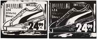 Andy Warhol-Puma Invaders (Positive and Negative)-1986