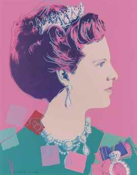 Andy Warhol-Queen Margarethe II of Denmark, from Reigning Queens (Royal Edition)-1985