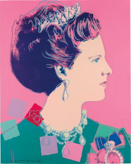Andy Warhol-Queen Margrethe II of Denmark, from Reigning Queens (Royal Edition)-1985