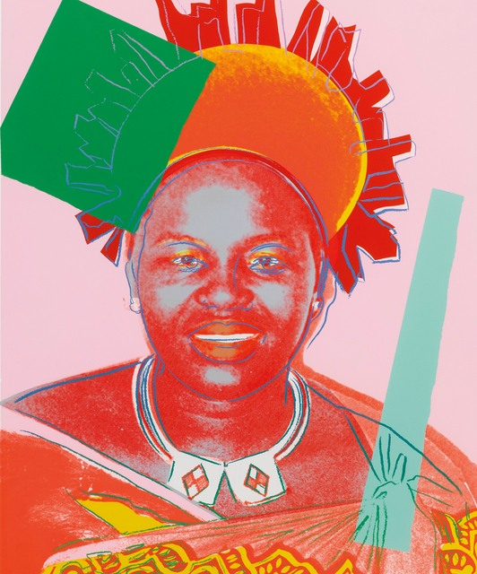 Andy Warhol-Queen Ntombi Twala Of Swaziland-1985
