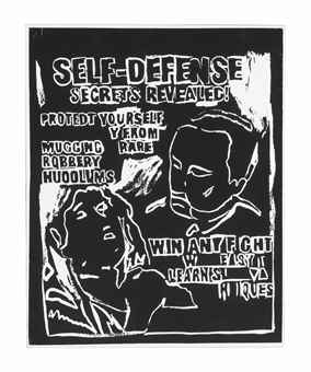 Andy Warhol-Self-Defense (Negative)-1986