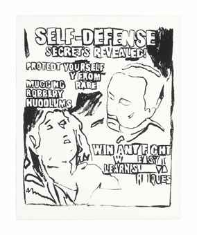 Andy Warhol-Self-Defense (Positive)-1986