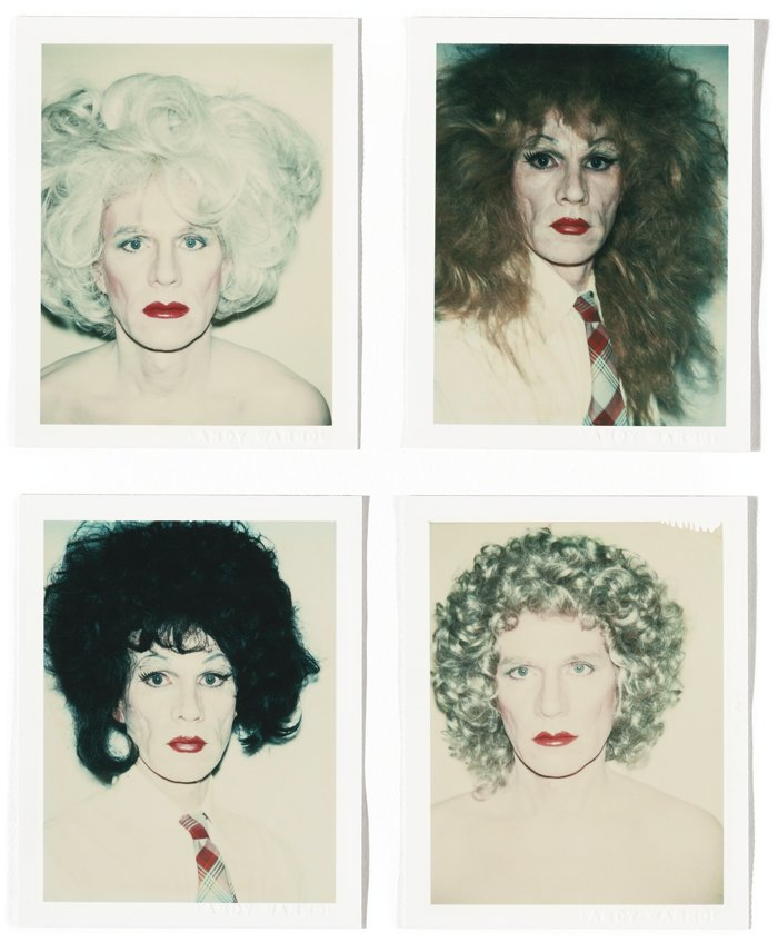 Andy Warhol-Self-Portrait In Drag-1982