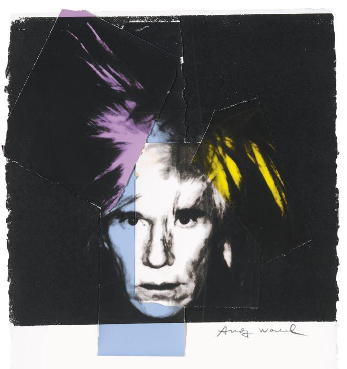 Andy Warhol-Self Portrait In Fright Wig-1986