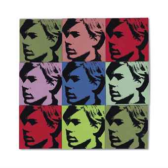 Andy Warhol-Self-Portrait (Nine Times)-1967