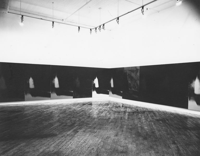 Andy Warhol, Shadows, 1978–79. Installation view, Heiner Friedrich Gallery, 393 West Broadway, New York, 1979.