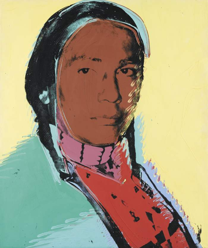 Andy Warhol-The American Indian (Russell Means)-1977