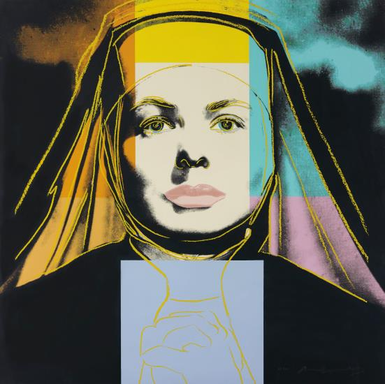 Andy Warhol-The Nun, from Ingrid Bergman-1983
