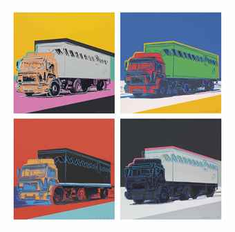 Andy Warhol-Truck (The Complete Set of Four Screenprints in colors)-1985