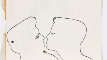 Andy Warhol - Two Male Heads Face to Face
