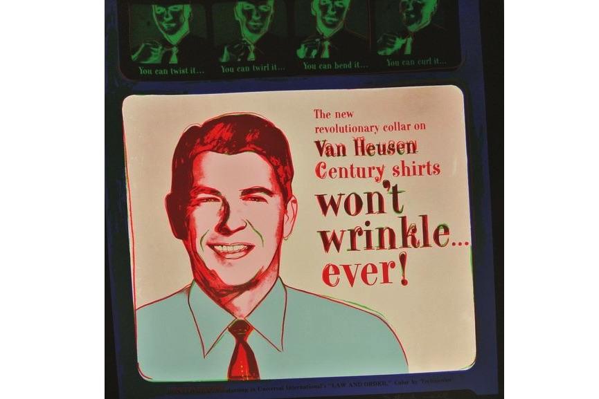 andy warhol's Van Heusen (Ronald Reagan); andy warhol's ads portfolio