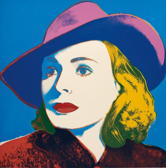 Andy Warhol-With Hat, from Ingrid Bergman-1983