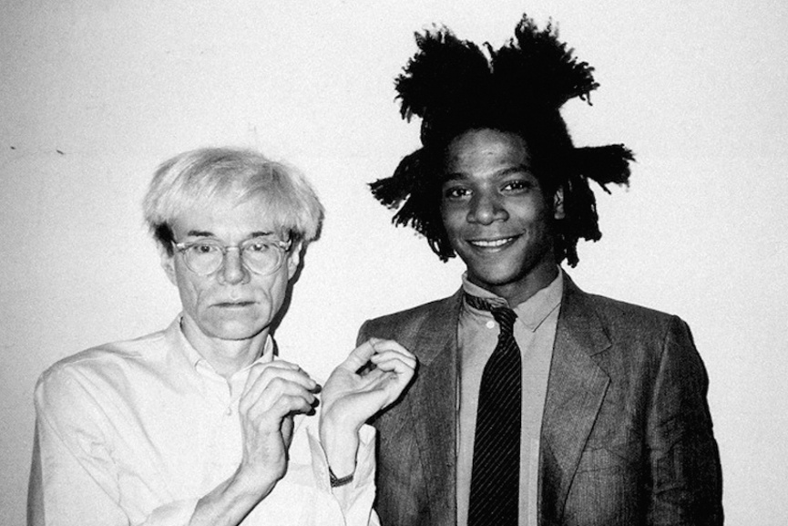 Andy Warhol and Jean-Michel Basquiat at The Factory at 860 Broadway, 1982