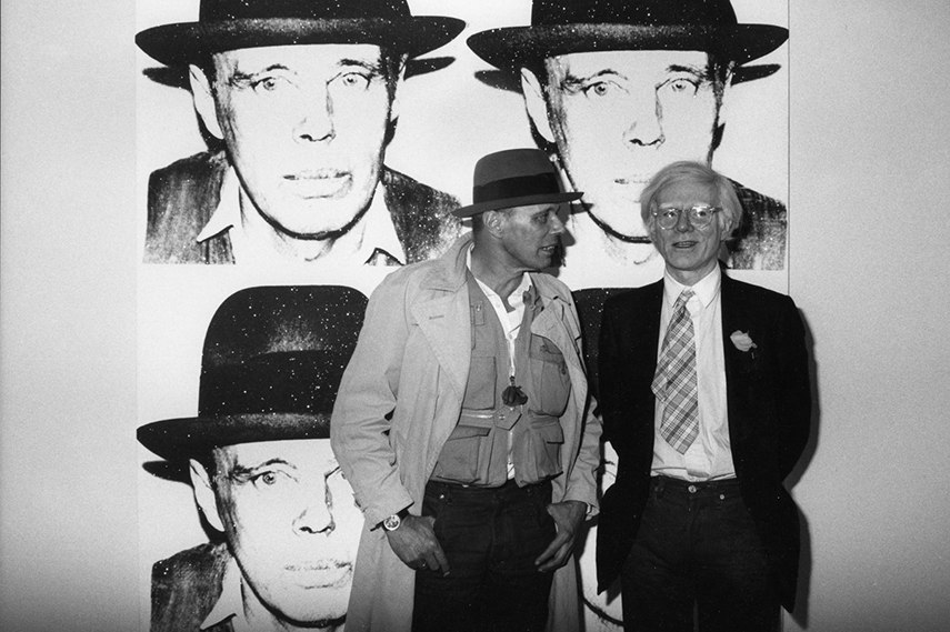 Andy Warhol and Joseph Beuys in Munich paintings, 1980. new painting series paintings Photo via schellmannartcom arts early books new work arts time portraits death paintings painting series