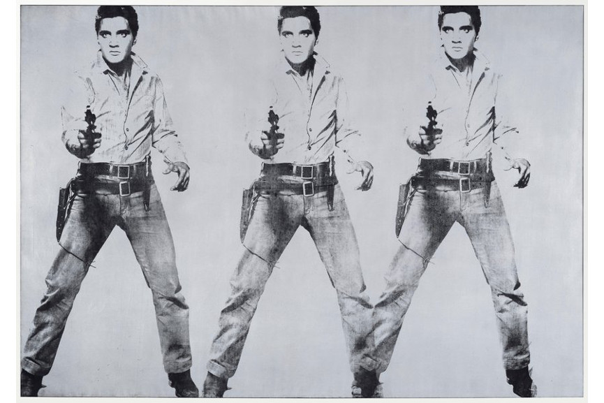 Andy Warhol triple Elvis, 1963 via SFMOMA