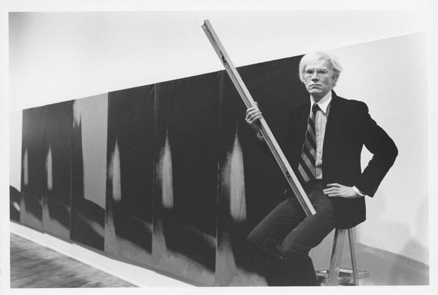 Andy Warhol with Shadows (1978–79) at Heiner Friedrich Gallery, 393 West Broadway, New York, in 1979