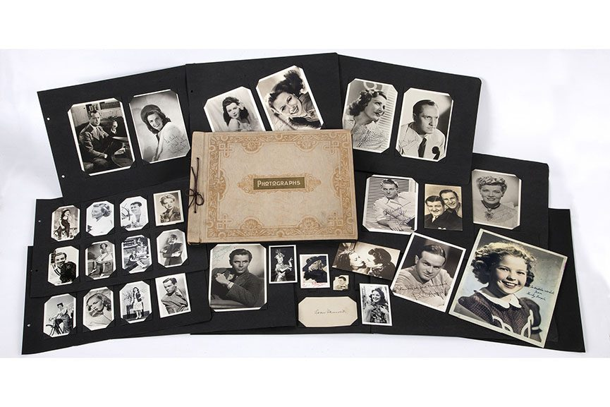 Andy Warhola's childhood movie star scrapbook, ca. 1938-42