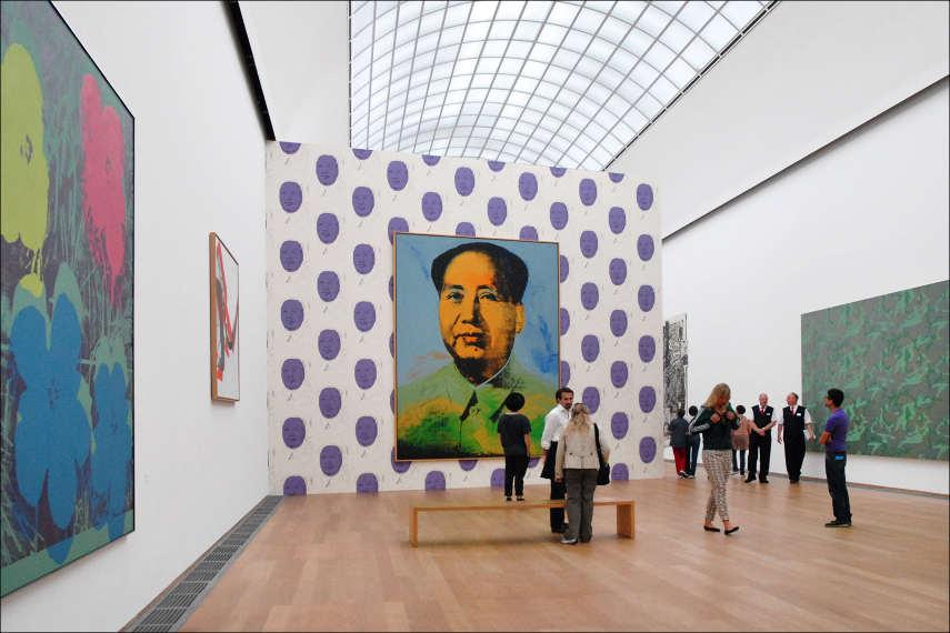 Andy Warhol's Mao Zedong (1973) at Hamburger Bahnhof, Berlin (image via Wikimedia)